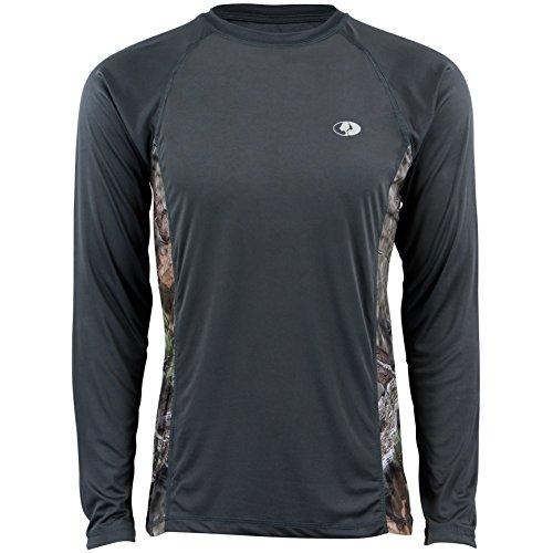 (Mossy Oak Long Sleeve Moisture Wicking Camp & Outdoor Shirt for Men)