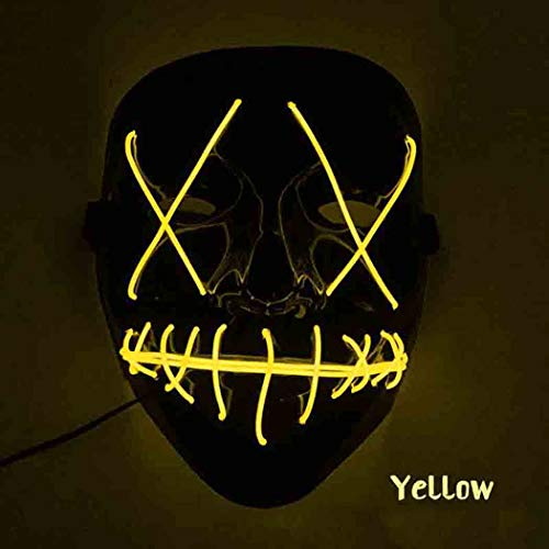 ThinIce Frightening Halloween Cosplay LED Light up Mask