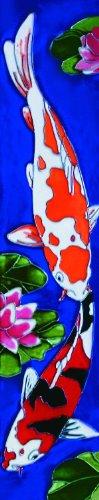 Koi Fish I - Decorative Ceramic Art Tile - 3