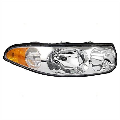Passengers Headlight Headlamp with Fluted High Beam Replacement for Buick 19245372 AutoAndArt