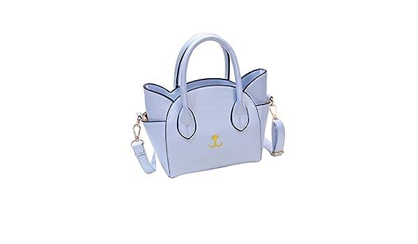 Amazon.com: Women bags Cat Face Shoulder Bags Totes Handbag Messenger Bag small Crossbody Coin Bag leather crossbodybags bolsas feminina #75 Color Blue: ...