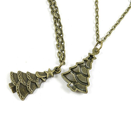 1 PCS Jewelry Making Charms Necklace Long Chain Pendant Supplier Wholesale Antique Bronze Y4IP6 Christmas Tree (1 Christmas Tree)