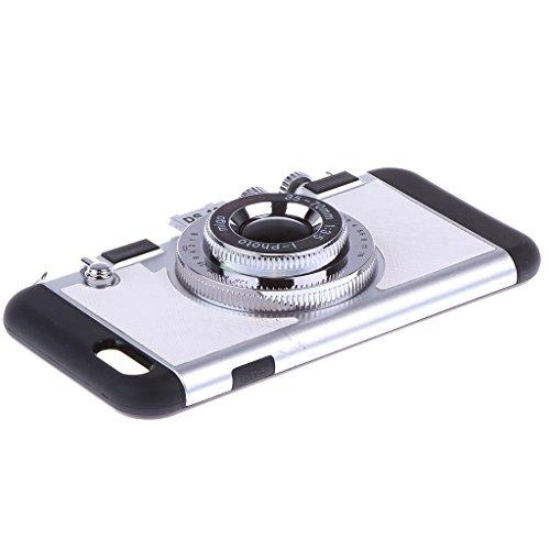 MagiDeal Cubierta Funda con Diseño 3D de Silicone Retro para Iphone 7 4,7 Accesorio para Móvil Protección Extraíble - Para iPhone 7 4.7 , Blanco Blanco