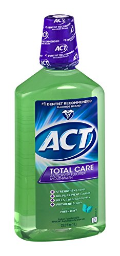 Chattem Act Total Care Anticavity Fluoride Mouthwash Fres...