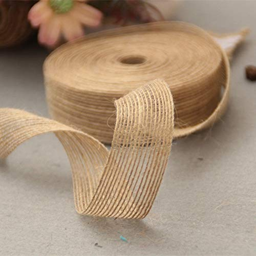 DHmart 3.8cm Natural Lace Ribbon Roll Vintage Wedding Decora
