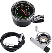Mechanical Bicycle Computer, Bike Speedometer Odometer Cycling Stopwatch Cyclocomputer Mechanical Speedometer