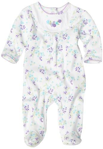 ABSORBA Baby-girls Newborn Embroidered Ruffled Footie