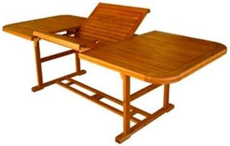 Amicasa. Table de Jardin Extensible en Bois 150/200 x 100 ...