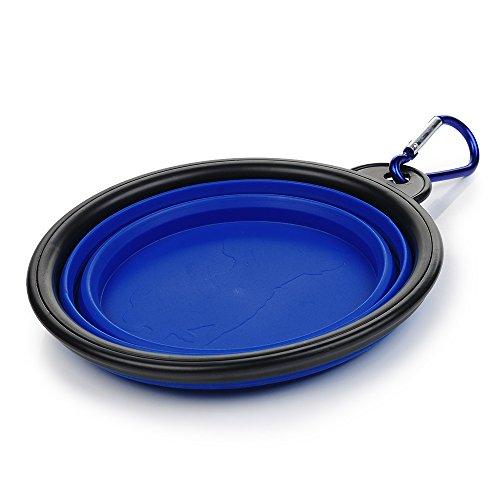 ACE Bilon Foldable Pet Bowl, Portable Silicone Durable Premium Outdoor Travel Dog Cat Bowl with Buckle