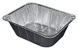 Durable Packaging Aluminum Steam Table Pan, Half-Size, Extra Deep, 4-3/16\