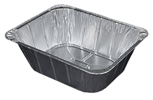 Durable Packaging Aluminum Steam Table Pan, Half-Size, Extra Deep, 4-3/16