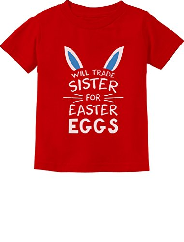 Trade Sister Easter Eggs Funny Siblings Easter Toddler/Infant Kids T-Shirt 4T - Clothes Easter