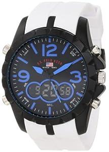 U.S. Polo Assn. Sport Men's US9240 White Analog Digital Strap Watch