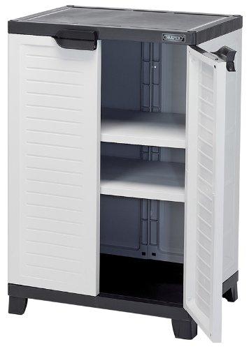 Draper 23233 Heavy Duty Plastic 2 Shelf Utility Cabinet