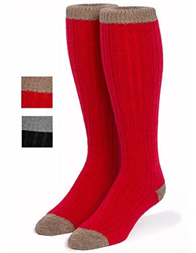 Warrior Alpaca Socks - Unisex Colorblock Long John Alpaca Wool Socks