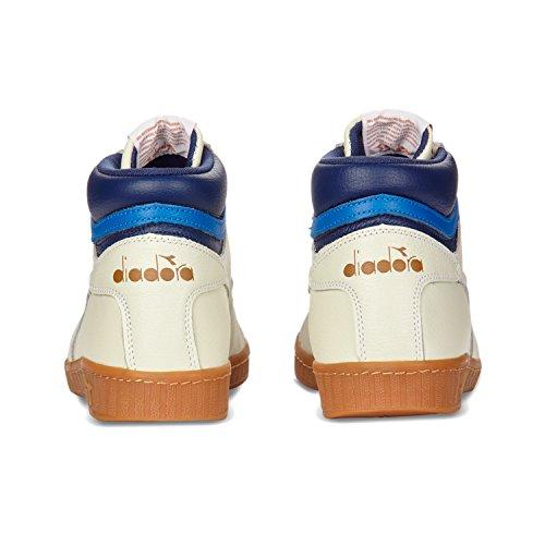 Diadora Game L High, Sneaker a Collo Alto Uomo C5866 - Bianco-saltire Navy