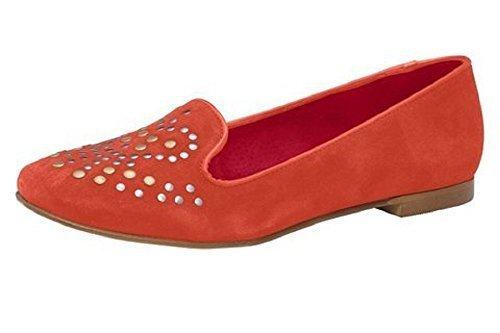 Slipper with Rivets Dini Patrizia Women's Leather Red - Koralle EvNnKiVXg