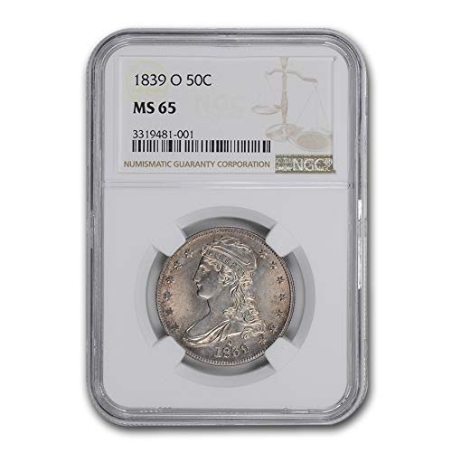1839 O Capped Bust Half Dollar MS-65 NGC (Reeded Edge) Half Dollar MS-65 NGC