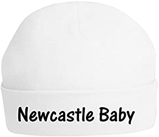 The Bees Tees Baby's Football Beanie Hat - Newcastle Baby