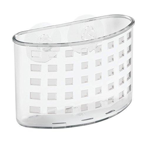InterDesign Kitchen Sink Suction Holder For Silverware, Flatware, Cutlery    Clear