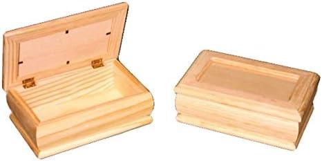 Caja joyero madera. Con tapa de cristal. En crudo, para decorar ...
