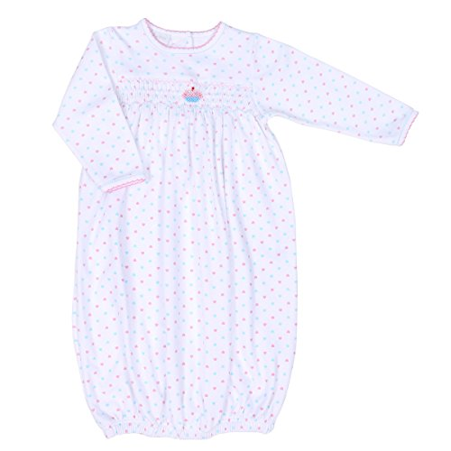 Smocked Cupcake (Magnolia Baby Baby Girl Cute Cupcake Smocked Gown Pink Small)