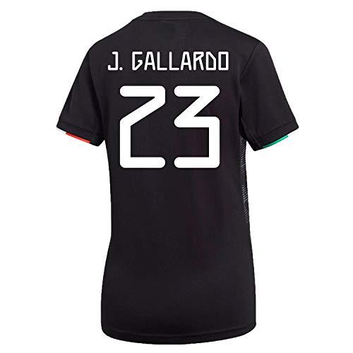 J. Gallardo #23 Mexico Home Women's Soccer Jersey 2019/20 (M) Black