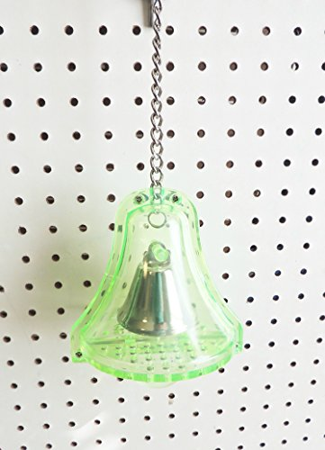 Mega Bell Bird Toy Green Parrots Macaws Cockatoos Extra Large 12'' L W/chain & Link by Jungle Beaks