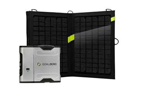 Goal-Zero-Sherpa-50-Solar-Recharging-Kit-with-Inverter-USB-LED-Stick-Light-and-Light-A-Life-LED-Lamp