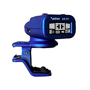 rechargeable clip on guitar tuner with built in battery usb cable compact great. Black Bedroom Furniture Sets. Home Design Ideas