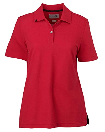 Ashworth 1148 Ladies EZ-Tech Piquà Polo-Short Sleeves T-Shirt-XX-Large-Carmine Red
