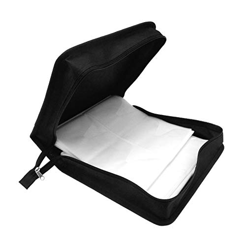 Creative Idear 320 Disc Portable CD DVD VCD Storage Carry Case Wallet Holder Bag Album Black ()