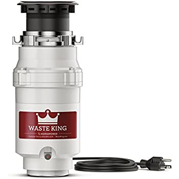 Waste King Legend Series 1/3 HP Garbage Disposal with Power Cord - (L-111)