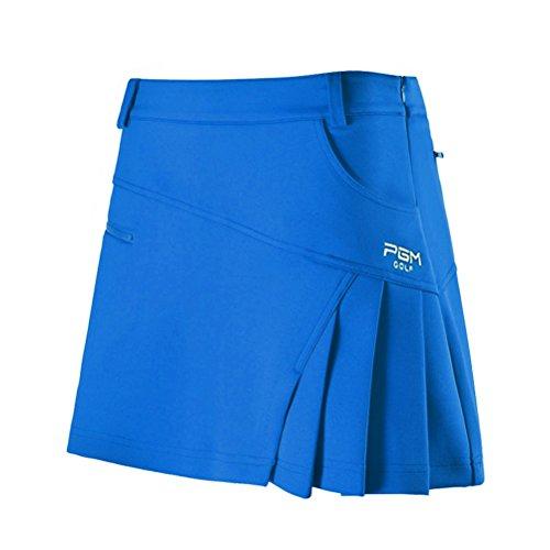 Kayiyasu スカート レディース ゴルフウェア 見せパン付き 女性 ミニスカート 夏 021-xsty-qz012(XS ブルー)