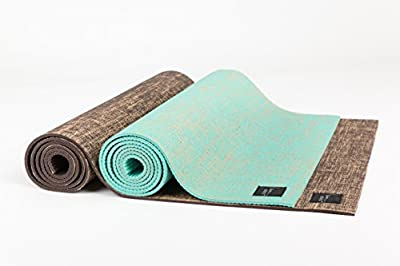 I am... Athletics: Natural Jute Yoga/Fitness/Exercise Mat - Eco-Friendly, Durable, Extra Long with Carry Strap