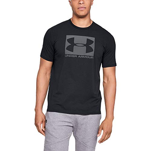 Under Armour Men's Boxed Sportstyle Short Sleeve Shirt, Black (001)/Graphite, Large