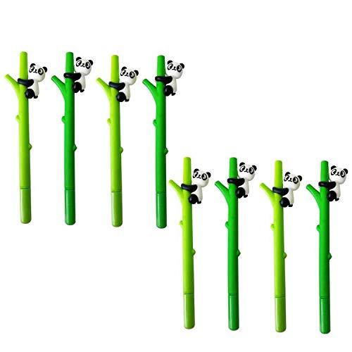 RAYNAG 8 Pack Cute Cartoon Panda Gel Ink Pen Rollerball Pens,Office School Supplies Black Ink 0.5mm,Random Colors