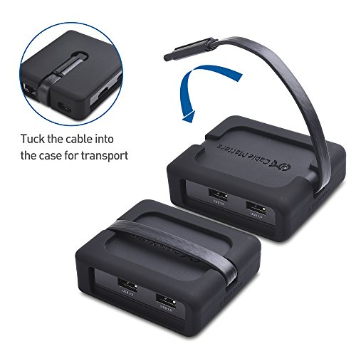Cable Matters USB C Multiport Adapter (USB C Dock) with USB C to HDMI Dual 4K Display, 2x USB 2.0, Fast Ethernet, and 60W PD - USB-C & Thunderbolt 3 Port Compatible for Windows in Black by Cable Matters (Image #2)