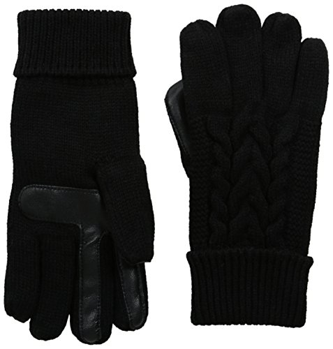isotoner-womens-solid-triple-cable-knit-smartouch-gloves-black-one-size