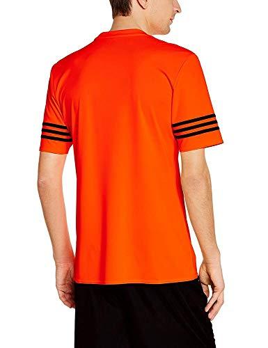 Entrenamiento Masculina Naranja negro advertencia Adidas 14 Entrada Camiseta HqpOw45