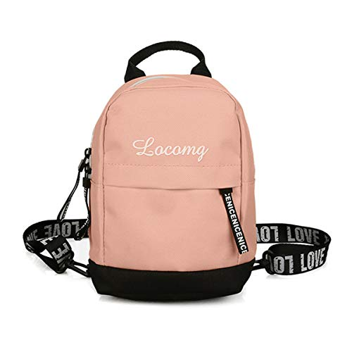 Contrast Straw Tote - Festnight Women Fashion Canvas Backpack Letters Print Contrast Color Hip Hop Cool Waist Bag Totes Pink