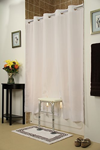 - Simplicity White Shower Curtain