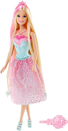 Barbie Endless Hair Kingdom Princess Doll, Pink