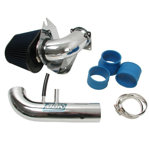 BBK 1718 Cold Air Intake System - Power Plus Series Performance Kit for Ford Mustang 4.6L 2V - Fenderwell Style - Chrome - Parts Mustang 2001 Gt Ford