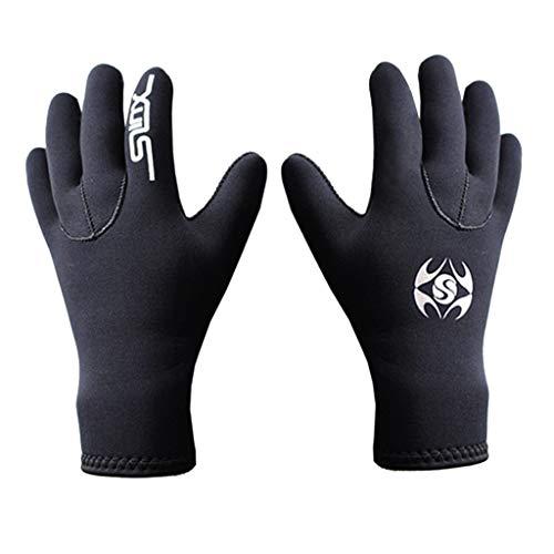 - JDgoods Diving Gloves Neoprene, Wetsuits Five Finger Gloves, 3MM Anti Slip Flexible Thermal Material for Snorkeling Swimming Surfing Sailing Kayaking Diving (M)