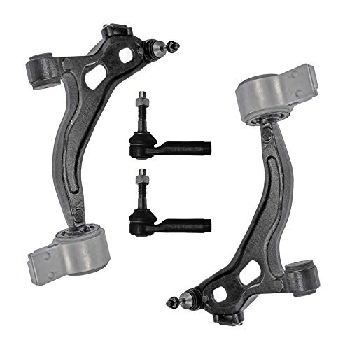 Detroit Axle - 4PC Front Lower Control Arms and Outer Tie Rods for 2010 2011 2012 Ford Flex/Taurus/Lincoln MKT - [2009-2019 MKS] ()