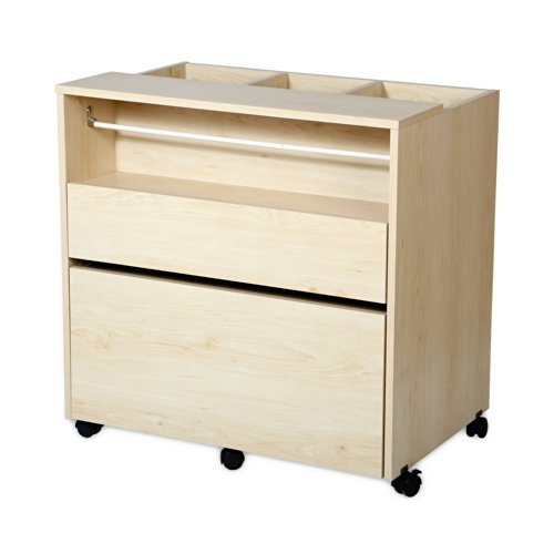 South Shore Crea Craft Storage Cabinet on Wheels, Natural Maple by South Shore