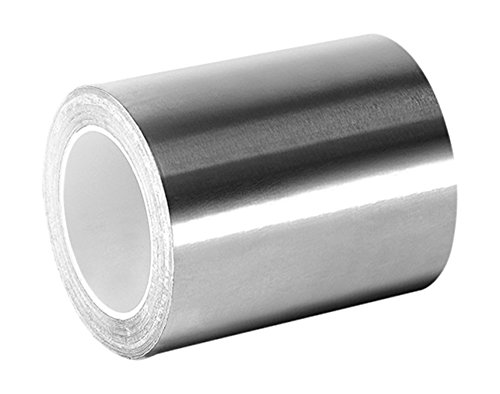 3M 3361 Silver High Temperature Stainless Steel/Acrylic Adhesive Foil Tape, 2
