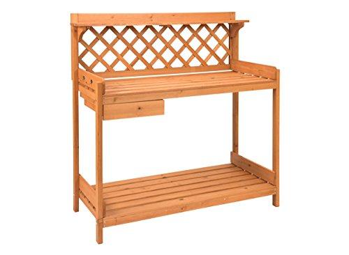 Trademark Innovations Fir Wood Garden Potting Table ()