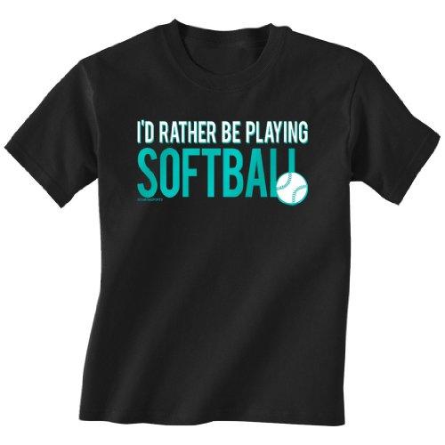 Softball Tshirt Sleeve Rather Playing product image